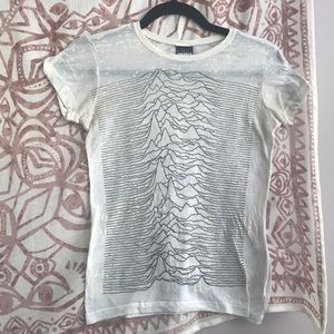 Tops - Joy Division Textured Fitted Band Tee